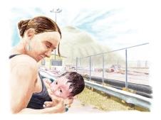 Fine pointe de la technologie maternelle (5) par Marianne Papillon, tiré de l'exposition Exploration mammaire et pétrolière 2011