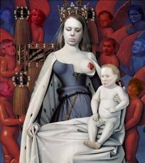 Madone entourée de Séraphin et de chérubins, de Jean Fouquet, adapté par Marianne Papillon 2012