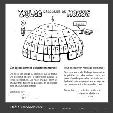 Le morse... un arbre décisionnel binaire! Igloo décodeur en animation scolaire, Marianne Papillon 2015